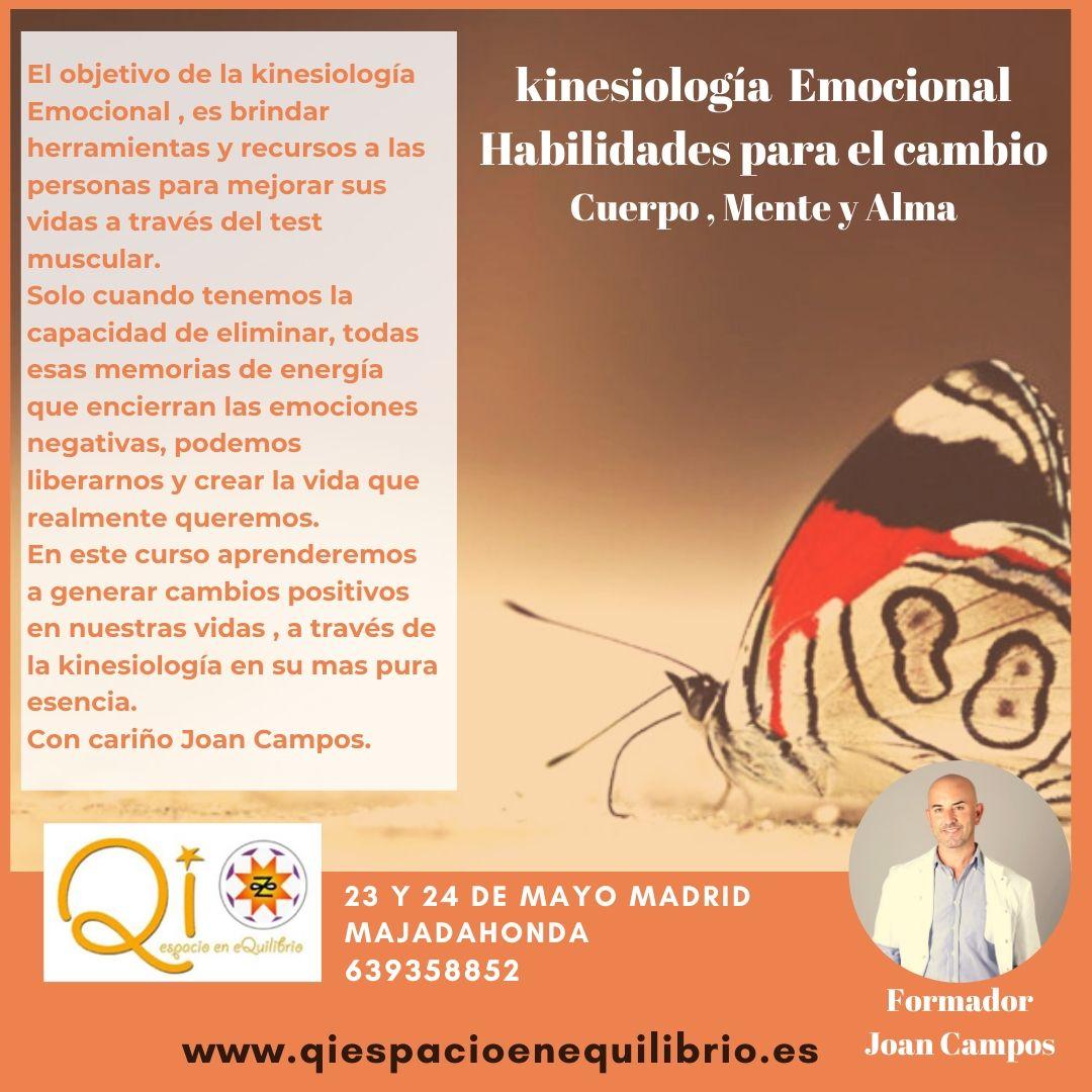 23 y 24 de Mayo Madrid Majadahonda (Kinesiología Emocional Habilidades para el cambio)